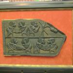 Antique Door Panel becomes wall decor