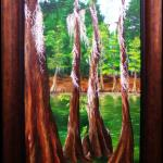 "Susan L. Tanner ""Mossy Breeze"" Oil on Canvas 15""x30"""