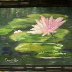 "Emma Kay Robinson ""Lilly's Pad"" Oil on Canvas 12""x16"""